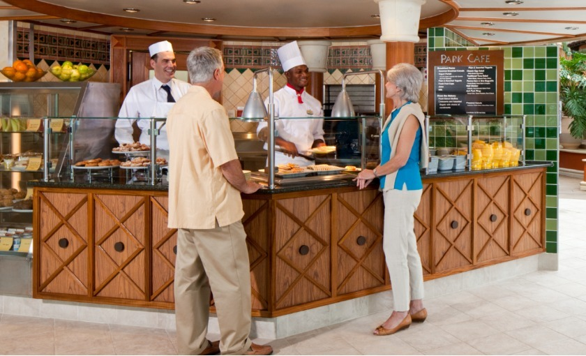 Das Parkcafe auf der Jewel of the Seas